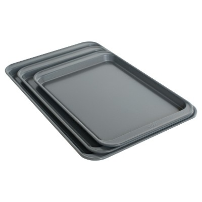 Room Essentials™ 3pc Cookie Sheet Set - Silver