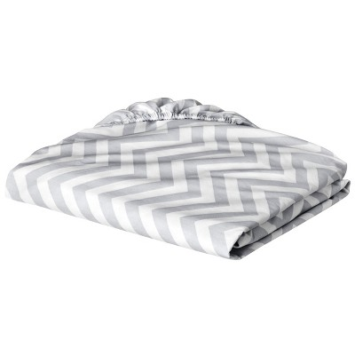 Circo® Fitted Crib Sheet - Grey Chevron