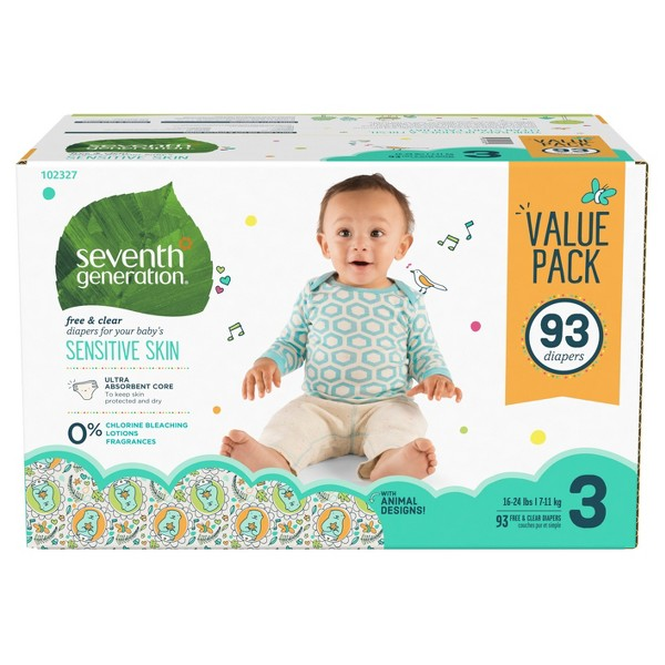 Seventh Generation 3 Pack Diapers product image