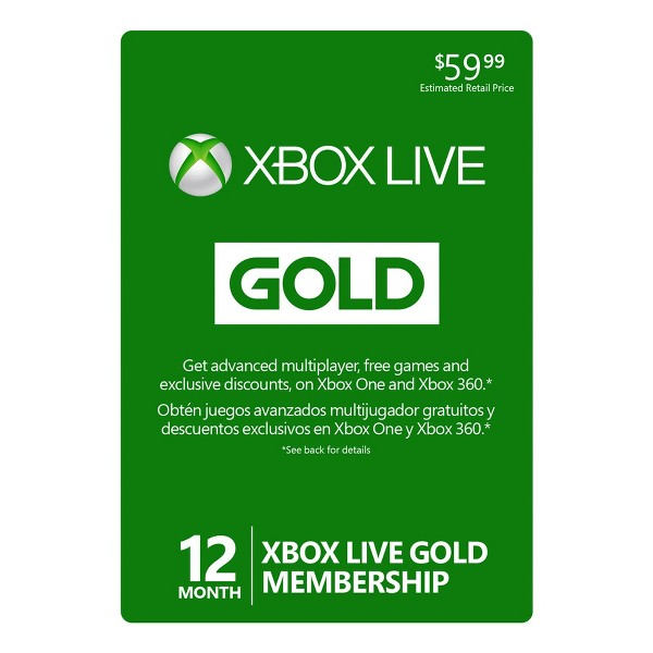 Xbox Live Subscription Card product image