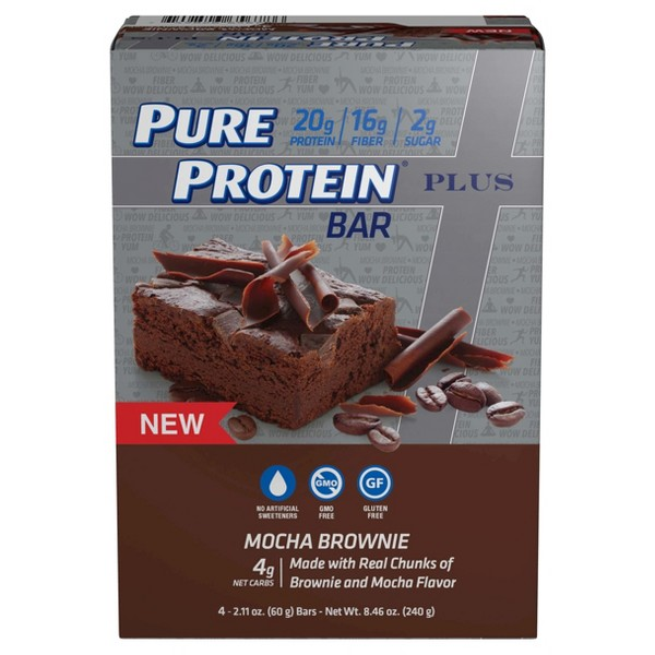 Pure Protein Plus Protein Bars 4pk product image