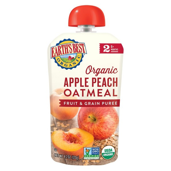 Earth's Best Apple Peach Oatmeal product image