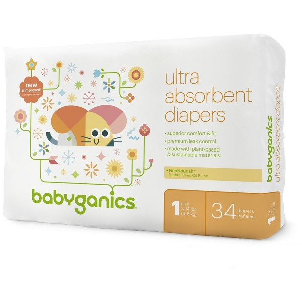 Babyganics Jumbo Bag Diapers product image