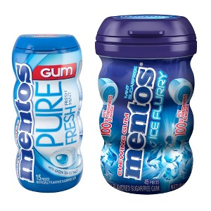 Mentos Gum Bottles
