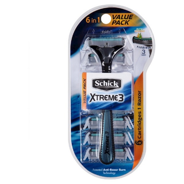 Schick Xtreme3 6-in-1 Value Pack product image