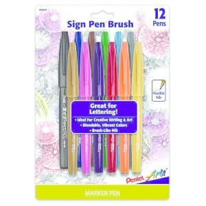 Pentel Sign Pen Brush Tip