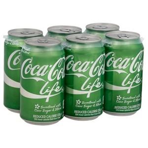 Coke Life 6pk Cans