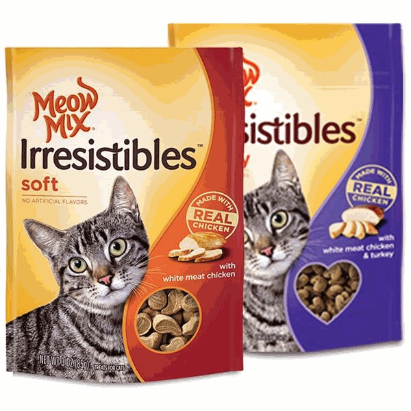 Meow Mix Irresistibles cat treats product image