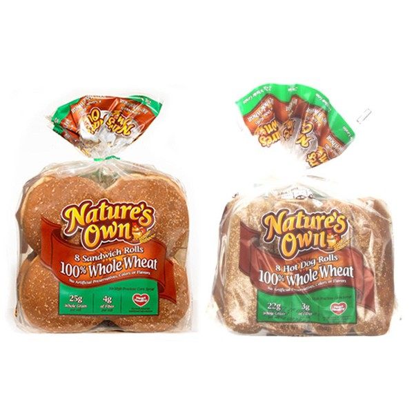 Natures Own 100% Wheat Buns product image