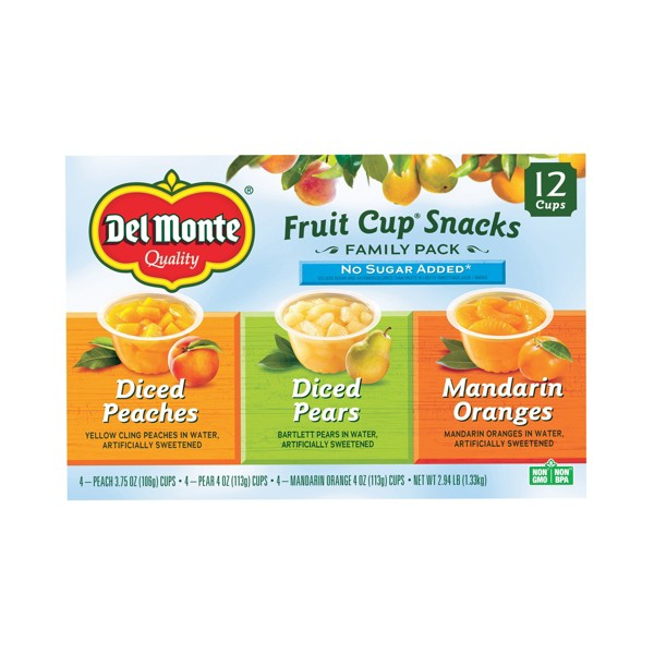 Del Monte 12 pk Fruit Cups product image