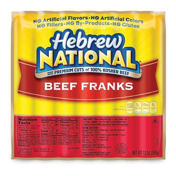 Hebrew National Beef Franks product image