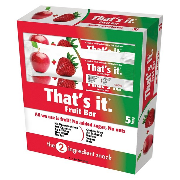 That's it. fruit bars product image