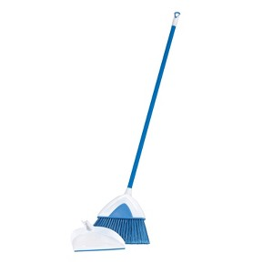 Clorox Angle Broom & Dustpan