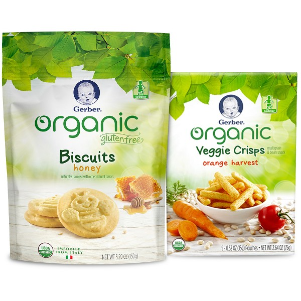 NEW Gerber Organic Snacks product image