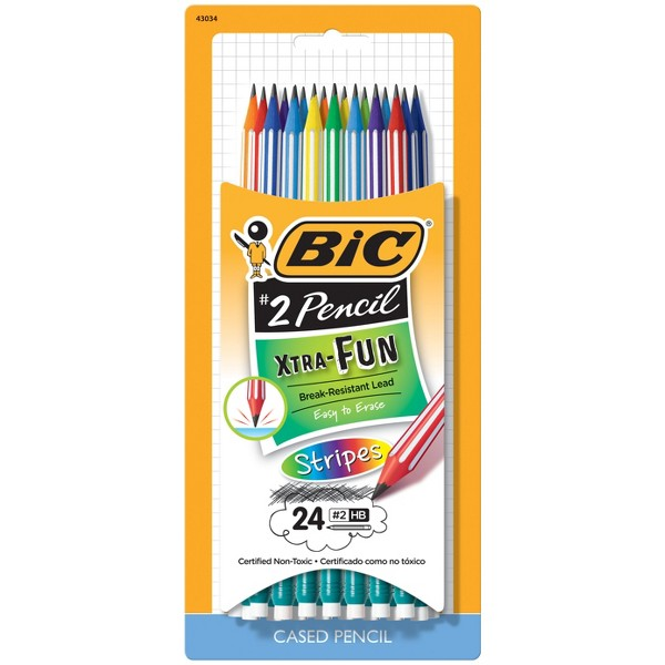 BIC Xtra Fun Stripes Cased Pencils product image
