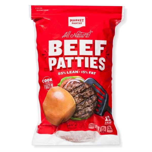 Market Pantry Frozen Beef Patties product image