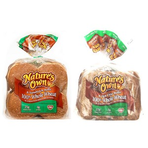 Natures Own 100% Wheat Buns