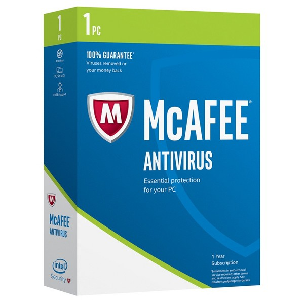 McAfee 2017 AntiVirus Software product image