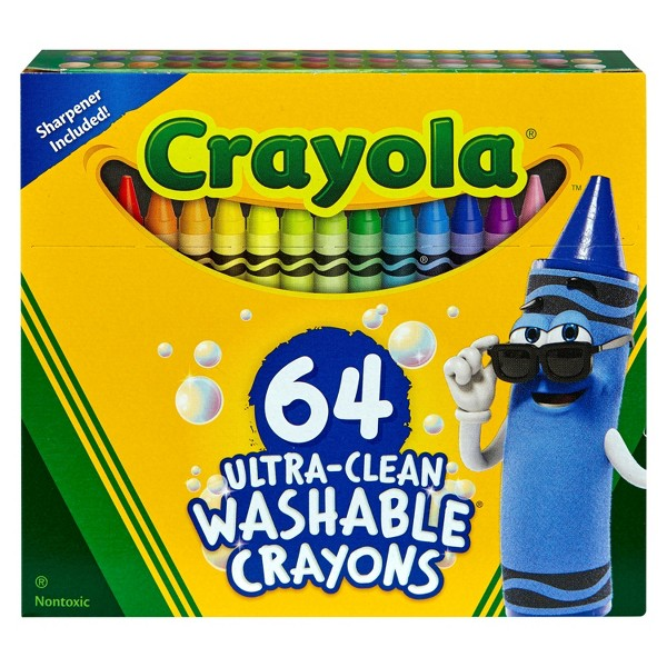 Crayola Ultra-clean 64ct Crayons product image
