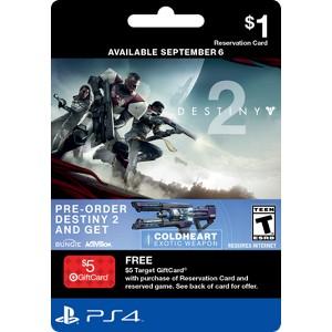 Destiny 2 Pre-Sell Cards