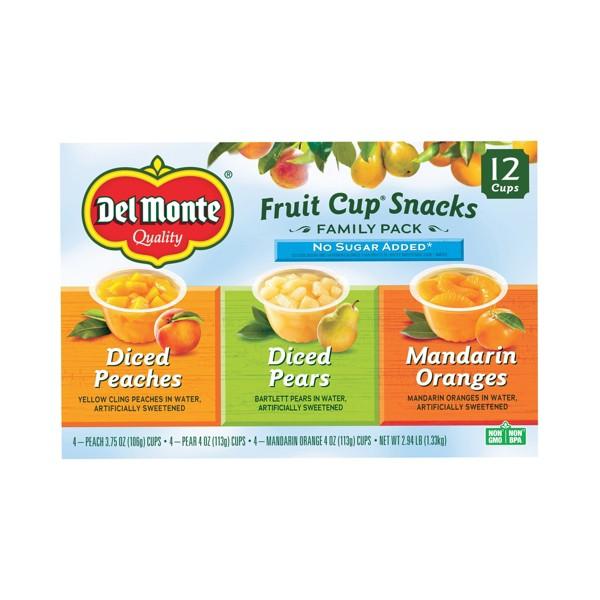 Del Monte 12pk Plastic Fruit Cups product image
