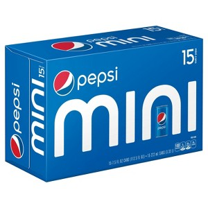 Pepsi & Mtn Dew Mini Can 15 pks
