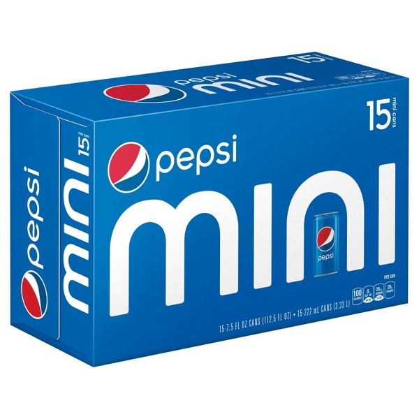 Pepsi & Mtn Dew Mini Can 15 pks product image