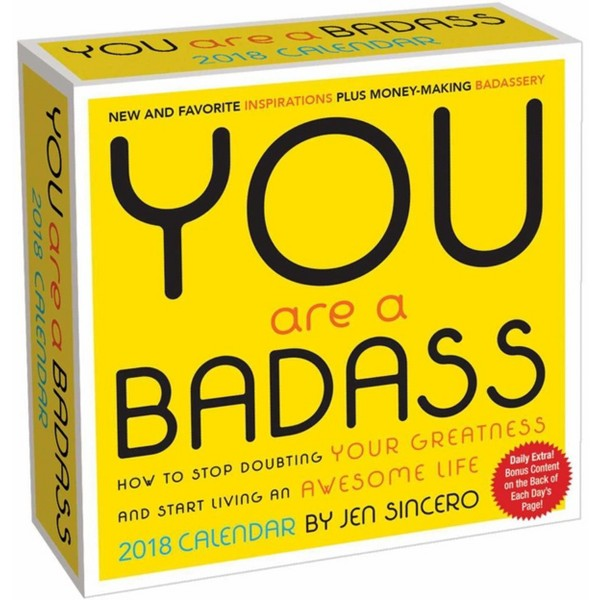 You Are a Badass: 2018 Calendar product image