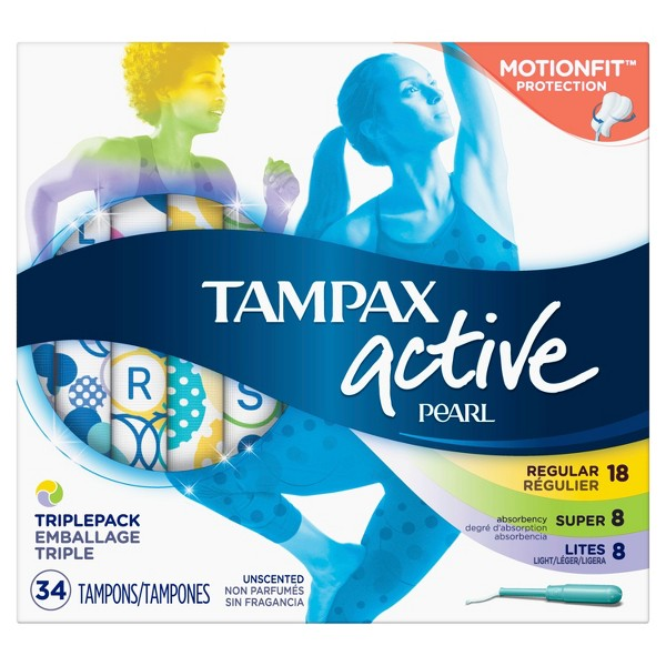 Tampax Active Pearl Tampons product image
