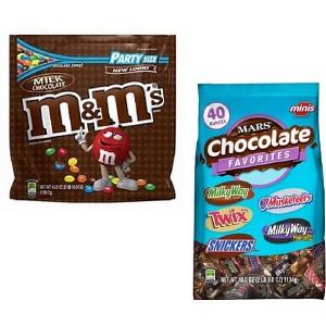 M&M's Party & Mars Club Bags