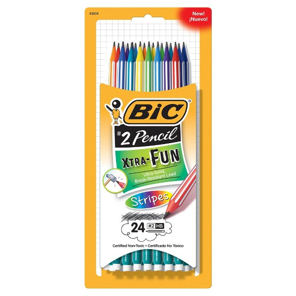 BIC Xtra Fun Stripes Pencils product image