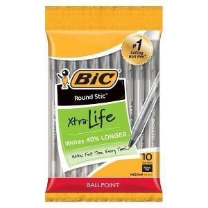 BIC Round Stic Xtra Life Ball Pens