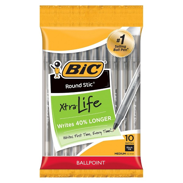 BIC Round Stic Xtra Life Ball Pens product image