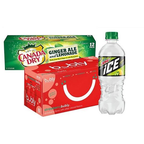 Bubly, Dew Ice, CanadaDry+Lemonade product image
