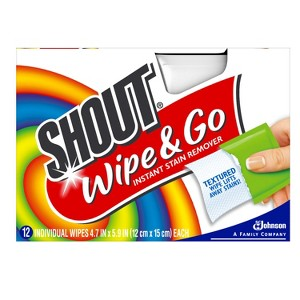Shout Wipe & Go 12 Ct