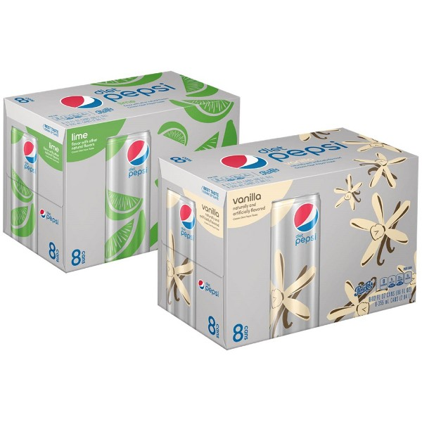 Diet Pepsi 8 Pk Sleek Cans product image