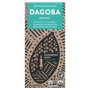 Dagoba White Raspberry Mint Choc