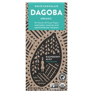 Dagoba White Raspberry Mint Choc.