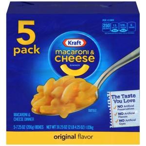 Kraft 5 Pack Original Mac & Cheese