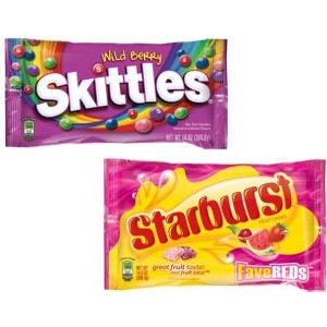 Skittles and Starburst