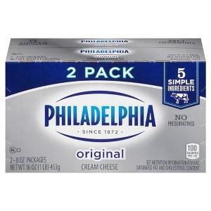 Philly Cream Cheese 2pk Brick