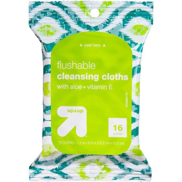 up & up Flushable Wipes product image