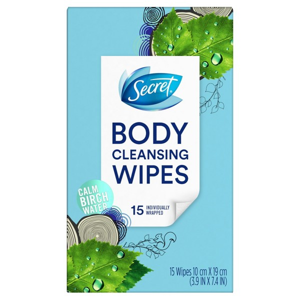 Secret Body Cleansing Wipes product image