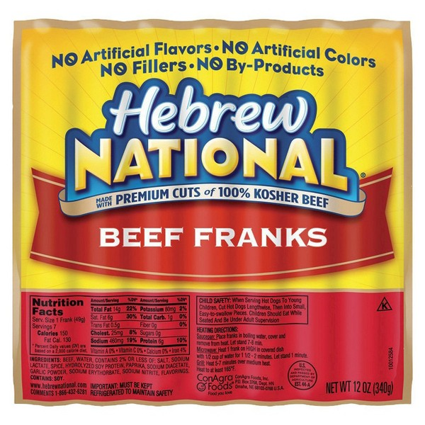 Hebrew National Hot Dogs product image