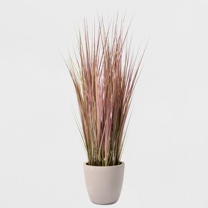 Cement Pot with Dual Toned Grass