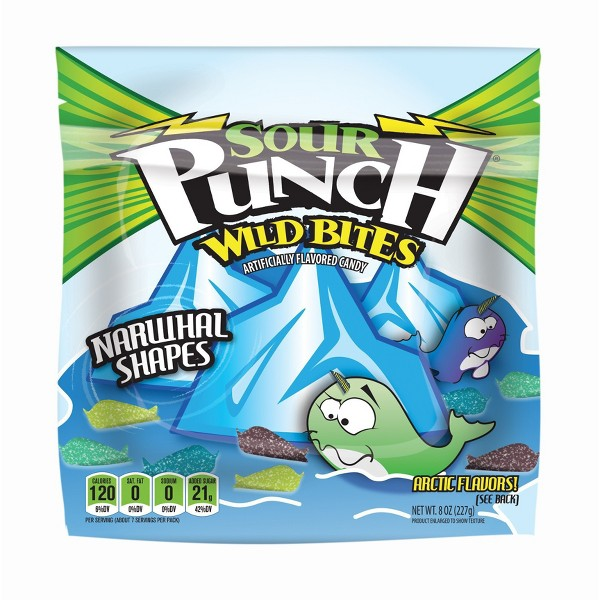 Sour Punch Bites Narwhal Shapes product image