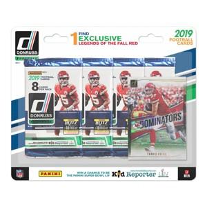 NFL Football 4 Pack + Foil Card