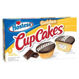 Hostess Golden Vanilla Cupcakes