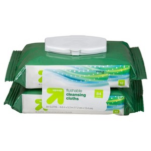 up & up Flushable Moist Wipes