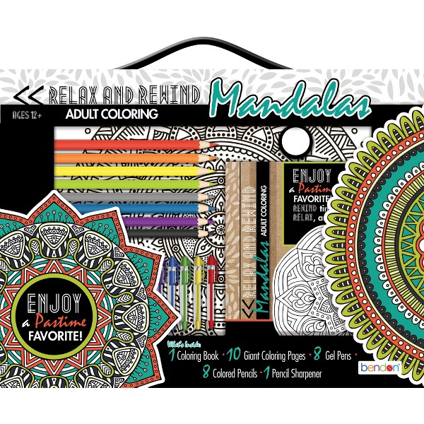 Relax Rewind Adult Coloring Kit product image